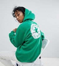Converse Chuck Patch Graphic Hoodie In Green