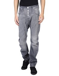Humor Denim Denim Trousers Men Grey