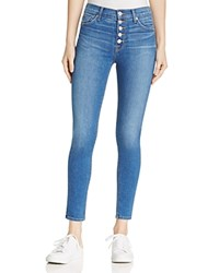 Hudson Ciara Exposed Button Skinny Ankle Jeans In Rumors