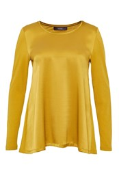 Hallhuber Swinging Silk Long Sleeve Yellow