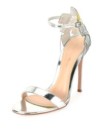 Gianvito Rossi Crystal Embellished D'orsay Sandal Silver