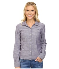 Mountain Khakis Mountain Chambray Long Sleeve Shirt Grenache Women's Long Sleeve Pullover Burgundy