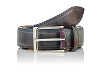 Harris Men's Burnished Leather Belt Blue