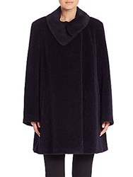 Cinzia Rocca Wool And Alpaca Coat Navy