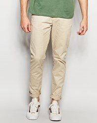 Jack And Jones Jack And Jones Slim Fit Chinos With Stretch Beige