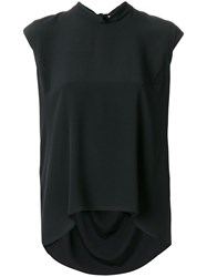 Mauro Grifoni Curved Hem Blouse Black