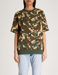 Aape By A Bathing Ape Camouflage Print Cotton Jersey T Shirt Green