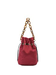 Edie Parker Shorty Satin Bag Red