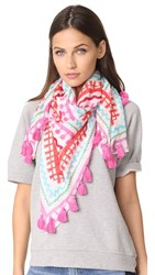 Kate Spade New York Ric Rac Square Scarf Fresh White