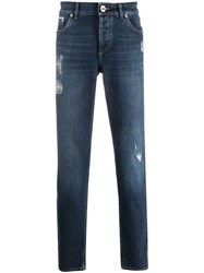 Brunello Cucinelli Distressed Slim Fit Jeans 60