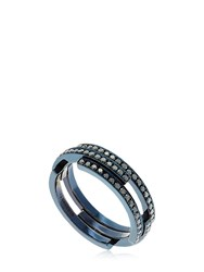 Dauphin Volume Black Diamond Ring