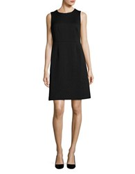 Nipon Boutique Quilted Sheath Dress Black
