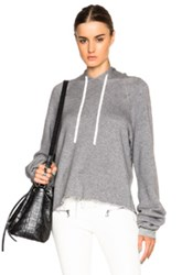 Unravel Oversized Cashmere Hoodie In Gray