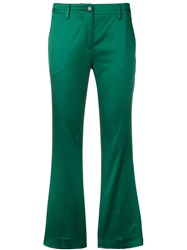 Pt01 Tailored Cropped Trousers Green
