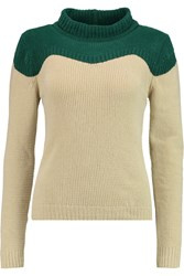 J.W.Anderson Two Tone Ribbed Knit Sweater White