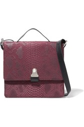 Maison Martin Margiela Mm6 Snake Effect Faux Nubuck Shoulder Bag Merlot