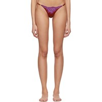 Fleur Du Mal Red And Purple Lace James Cheeky Briefs