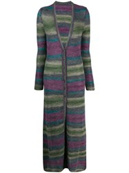 Jacquemus La Robe Striped Knitted Dress Green