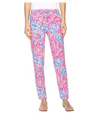 Lilly Pulitzer Lola Pants Multi Coco Coral Crab Women's Casual Pants Pink