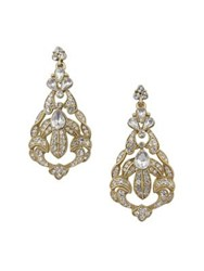 Belle By Badgley Mischka Occasion Botanical Stone Drop Earrings Gold