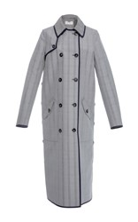 Gabriela Hearst Claremont Reversible Trench Coat Plaid