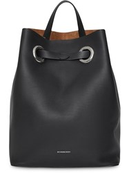 Burberry The Leather Grommet Detail Backpack Black