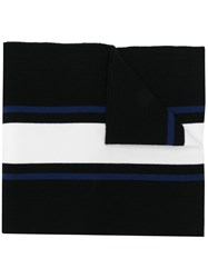 Dsquared2 Logo Embroidered Scarf Black