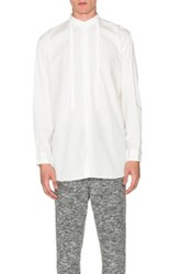 Robert Geller Rope Tie Shirt In White