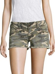 True Religion Kiera Low Rise Camo Denim Shorts Vintage Camo