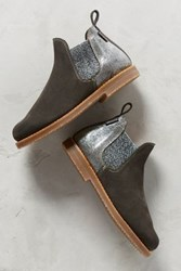 Anthropologie Penelope Chilvers Safari Ankle Boots Silver