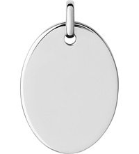 Links Of London Narrative Sterling Silver Large Oval Disc Pendant