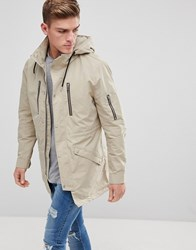 Only And Sons Hooded Parka Crockery Beige