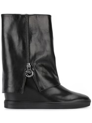 Loriblu Flat Zipped Boots Black
