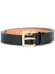 Lardini Gold Tone Buckle Belt Black