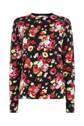Warehouse Woodstock Floral Print Jumper Multi Coloured Multi Coloured