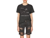 Nsf Moore With Our Compliments Cotton T Shirt Black