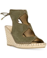 Franco Sarto Nash Wedge Sandals Women's Shoes Vintage Sage
