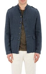 John Varvatos Star U.S.A. Canvas Officer Jacket Blue