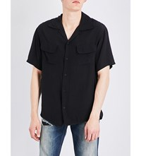 Hollywood Trading Company Embroidered Woven Shirt Black