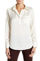 Insight Placket Long Sleeve Blouse Beige
