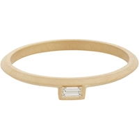 Monique Pean Baguette Diamond And Gold Suspension Stacking Band