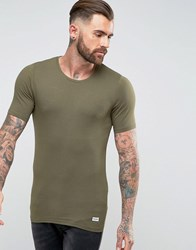 Only And Sons Muscle Fit T Shirt Green