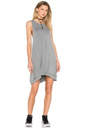 Heather Back Keyhole Dress Light Gray