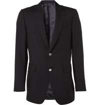 Alfred Dunhill Classic Mohair Wool Blazer Blue