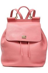 Dolce And Gabbana Sicily Pebbled Leather Backpack Bubblegum