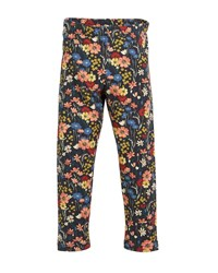 Mayoral Floral Print Leggings Blue