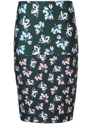 Yigal Azrouel Floral Printed Pencil Skirt Multicolour