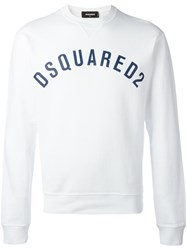 Dsquared2 Vintage Effect Logo Sweatshirt White