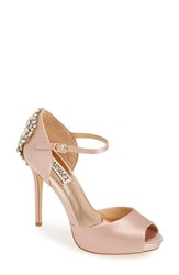 Badgley Mischka Women's 'Dawn' Crystal Back D'orsay Pump 4 1 2 Heel