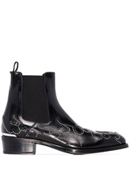Alexander Mcqueen Flame Ankle Boots Black